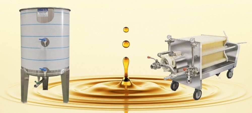 decantacion filtrado almacenaje aceite de oliva